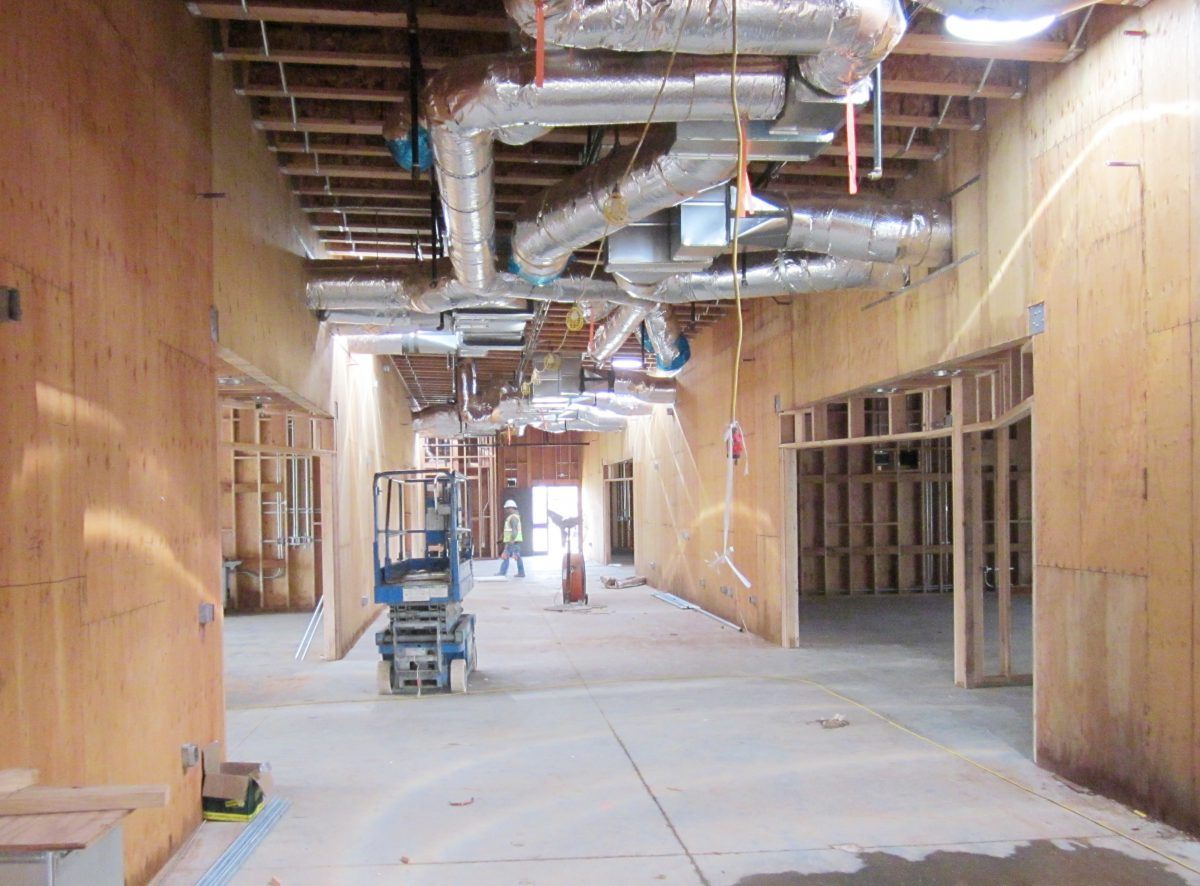 Inside of building with ventilation lines showing 1/17