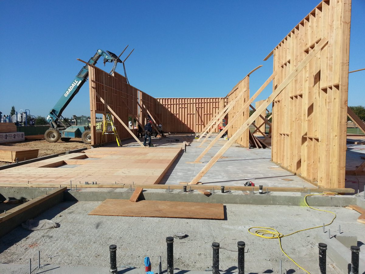 Building with half the walls up 10/16