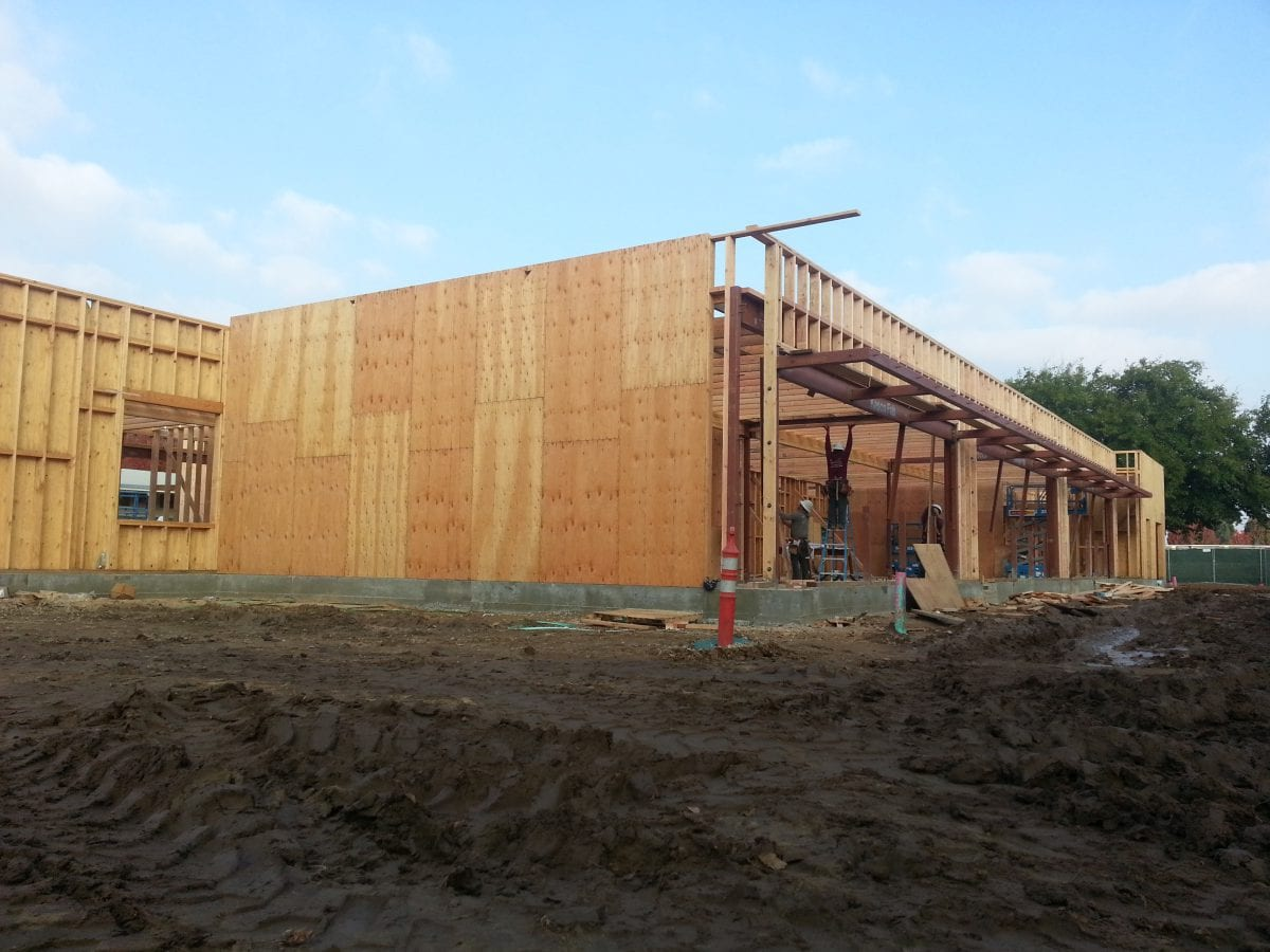 Wooden foundation of building 12/16