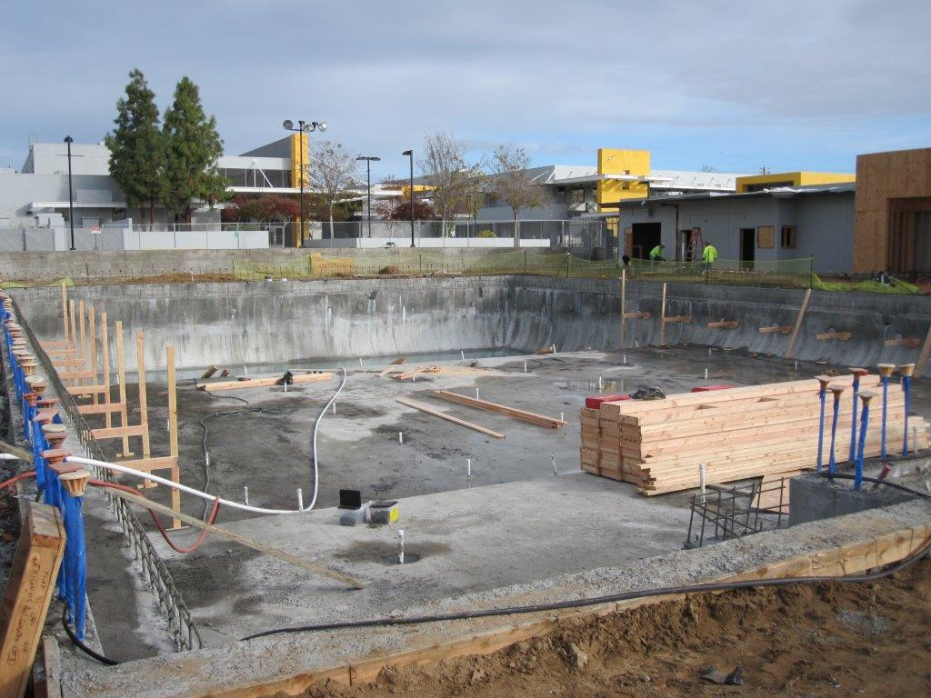 alternative view of pool under construction 12/14