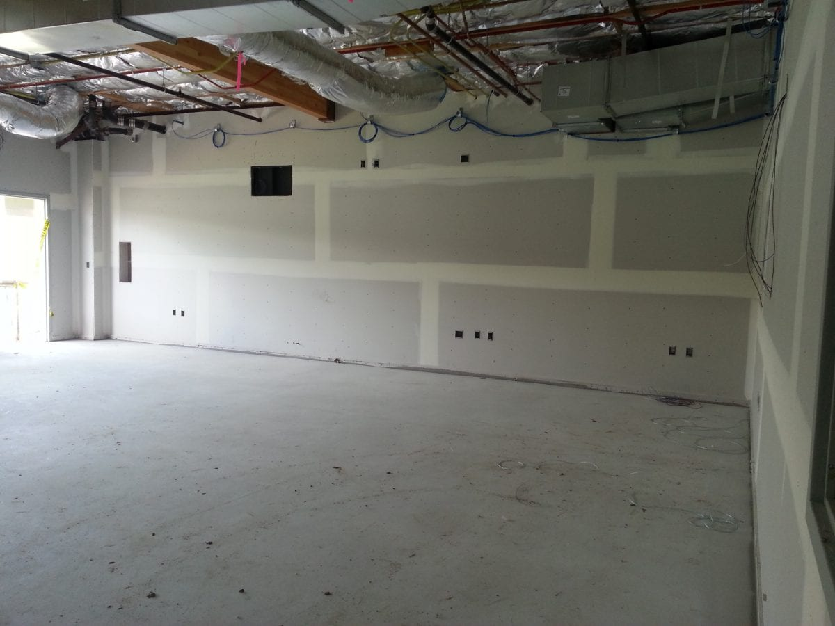 Empty room without carpeting or wall work 2/17