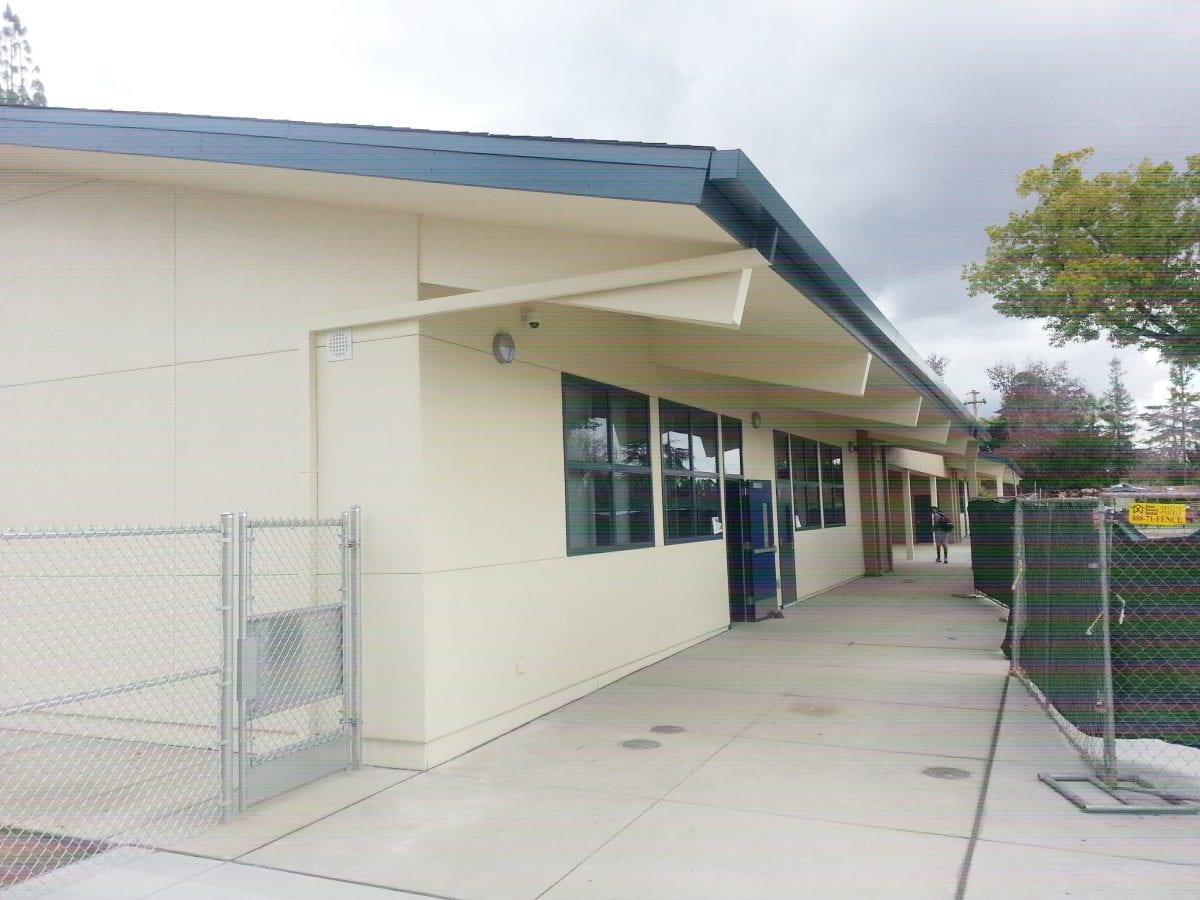 Side corner view of a class building