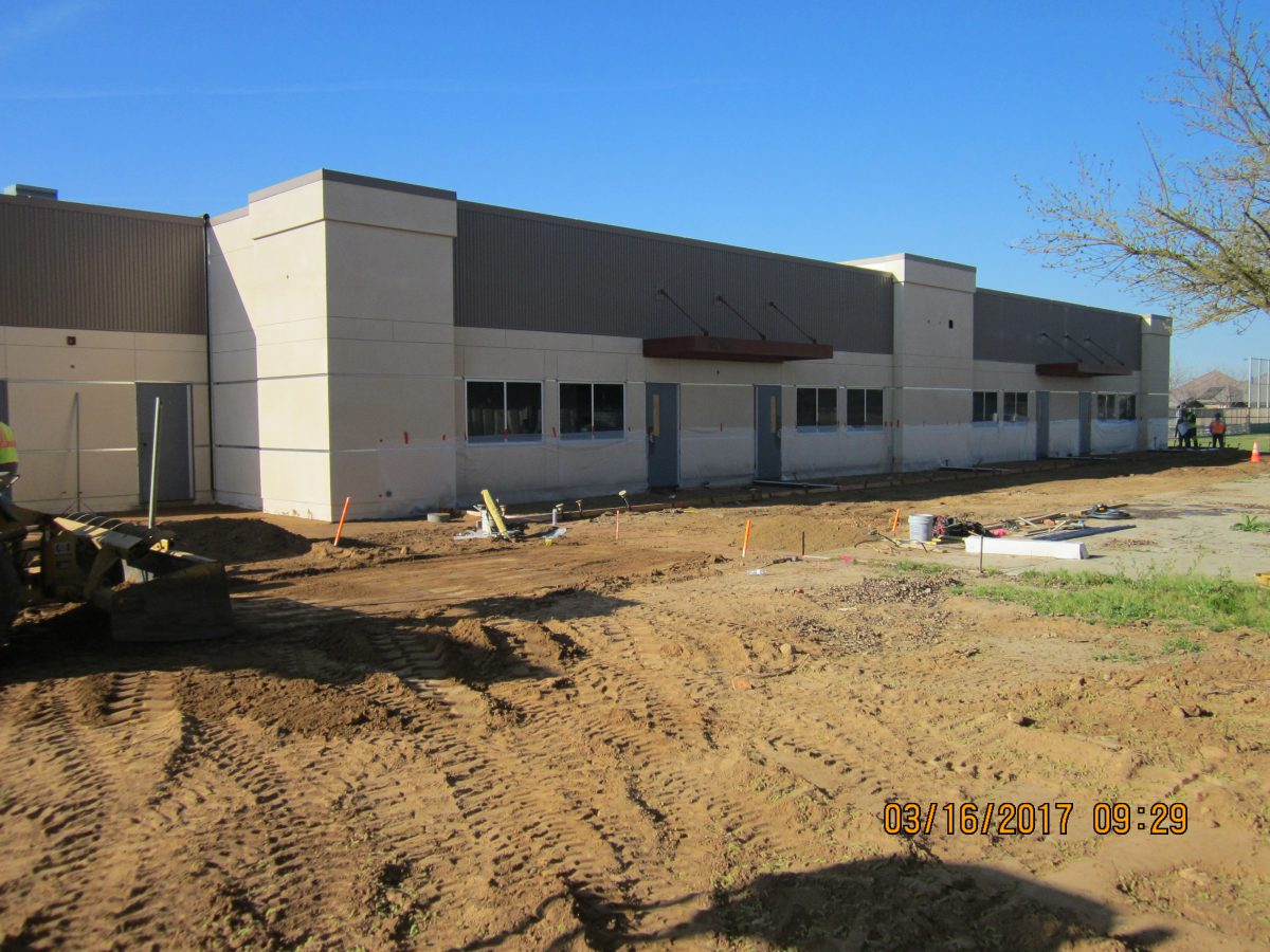 Building near completion 3/17
