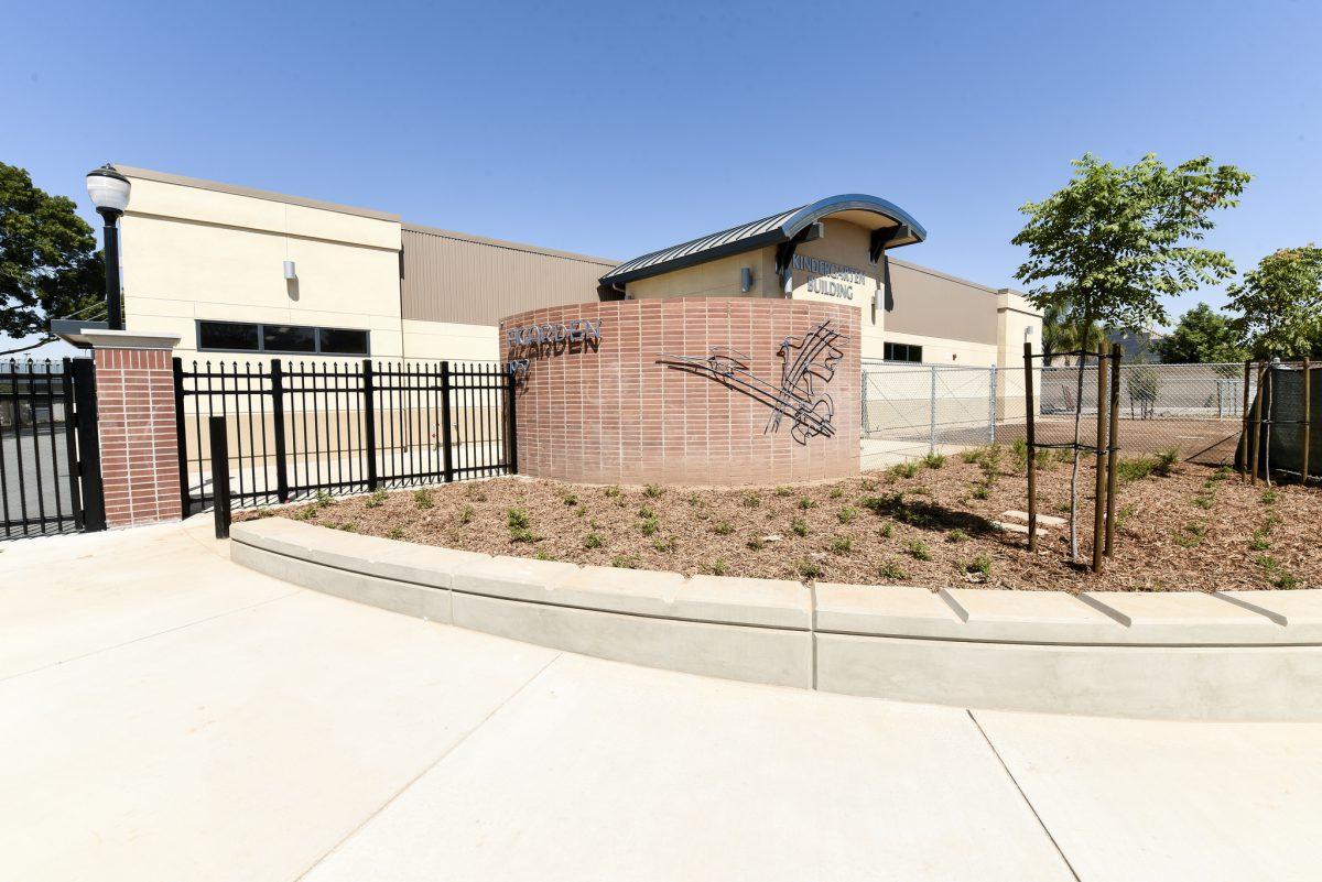 Front gate and kindergarten building 7/17