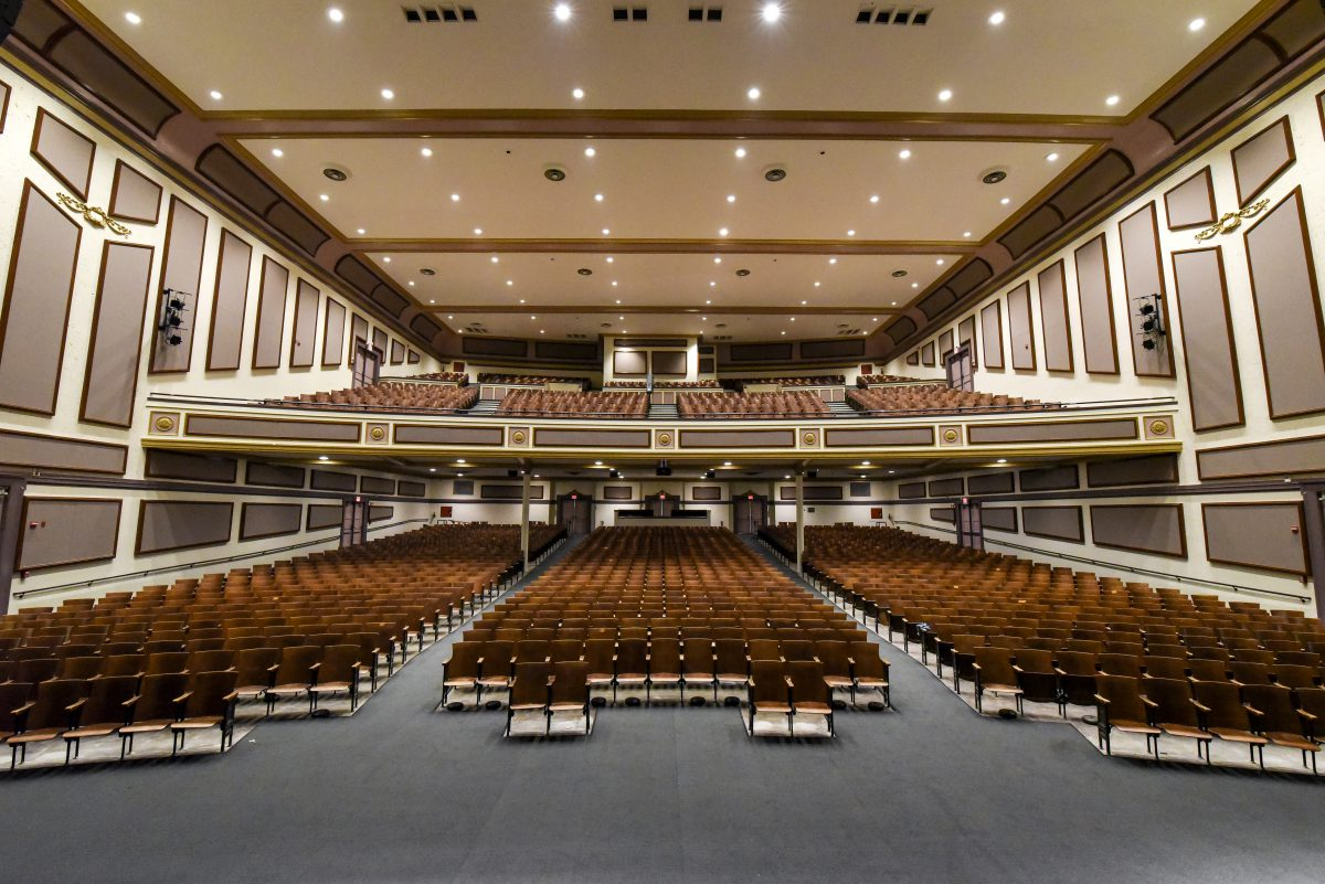 View of seats from the stage
