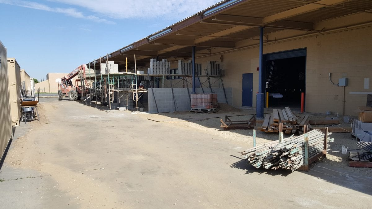 Side view of building construction 7/18