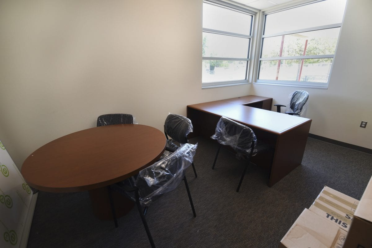 Inside of administrative office 8/17