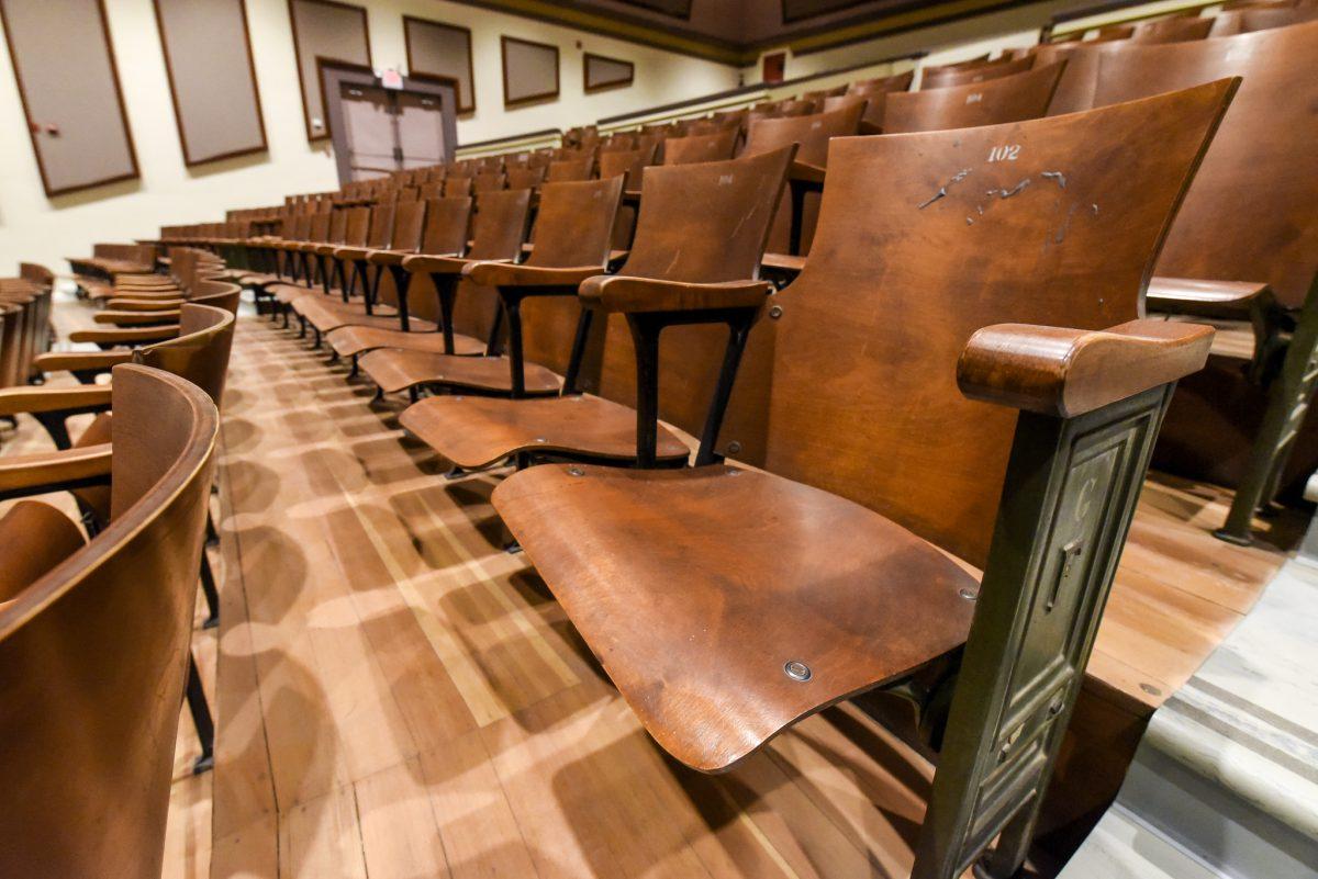 Closeup of seats
