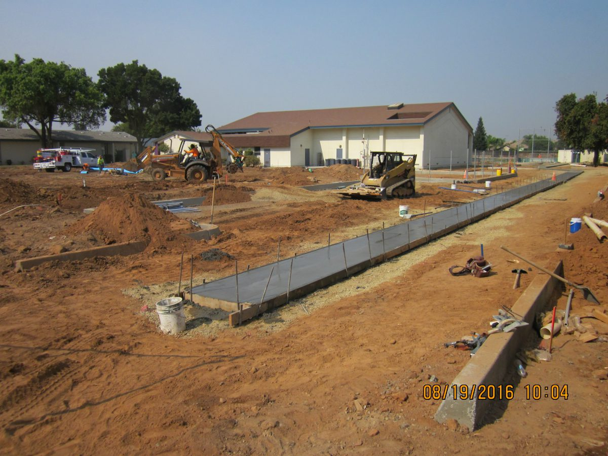 Partially completed slab walkway 8/16