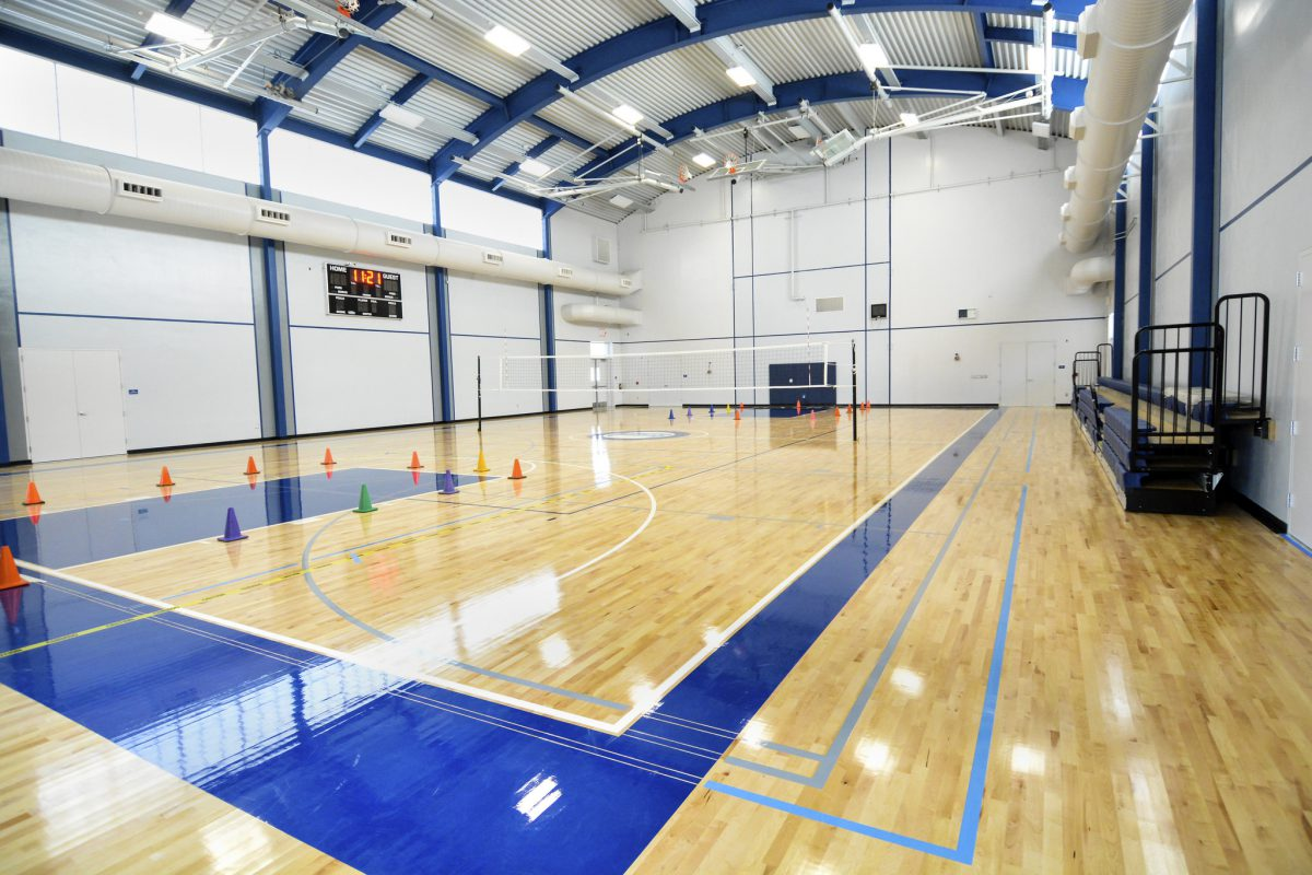 Inside of completed gym 8/15