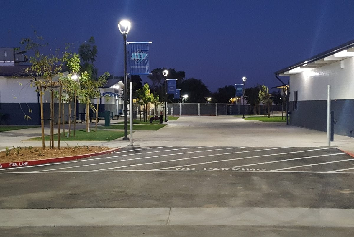 Outside view of ATP at night