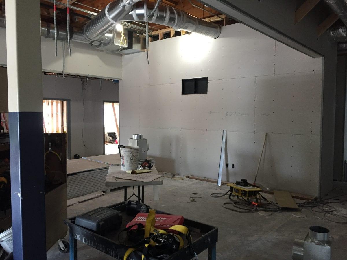 Office under construction
