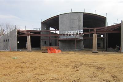 Wide view of outside gym 1/15