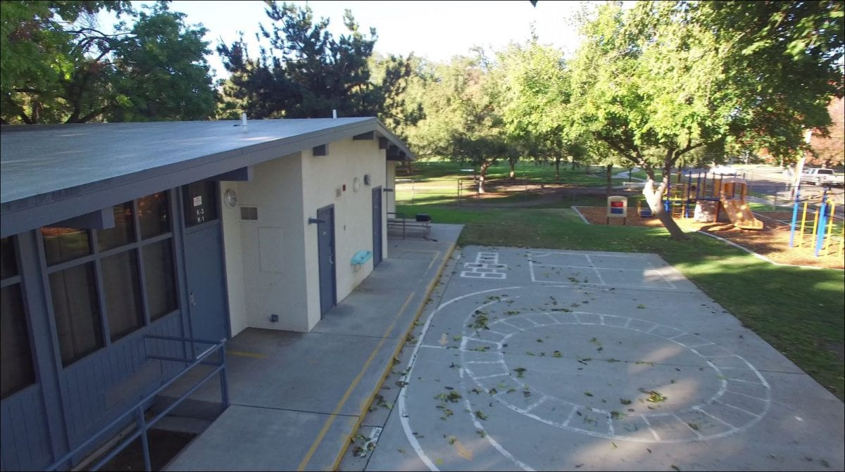 Rear aerial view of building 11/15