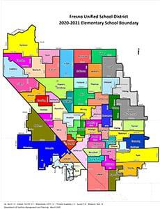 Map of elementary school boundaries