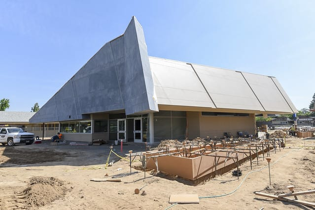 A Fresno Unified building in the process of construction
