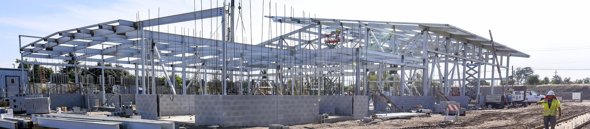 Duncan Polytechnical High School Big Truck Facility Construction in progres