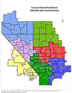 Map of high school boundaries