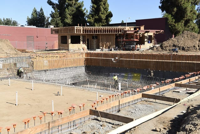 Ongoing Fresno Unified construction at a school site.